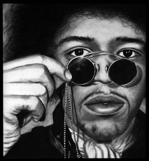 Jimi Hendrix by missperple